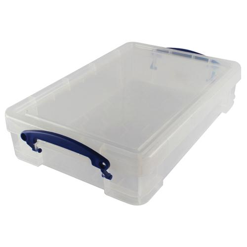 Really Useful Clear 4L Plastic Storage Box 395x255x80mm (Pk 1) KING4C