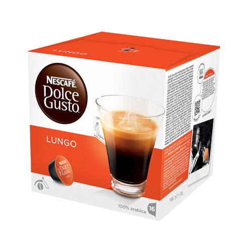 Nescafé Dolce Gusto Cafe Lungo Coffee Capsules (Pack of 3 x 16) Ref 12019900