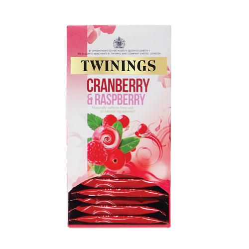 Twinings Cranberry and Raspberry Infusion Tea Bags Pack of 20