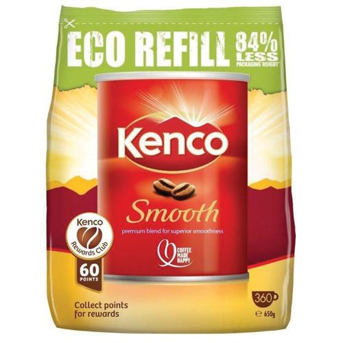 Kenco Smooth Roast Instant Coffee Refill 650g