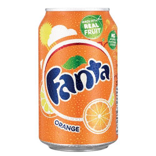 Fanta Orange 330ml Pack of 24 Cans