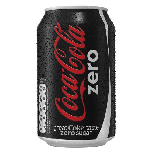 Coca Cola Zero 330ml Pack of 24 Cans