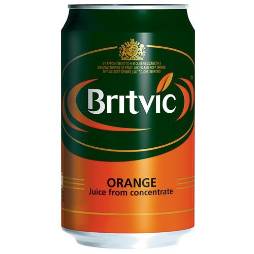 Britvic Orange Juice 330ml Pack of 24 Cans