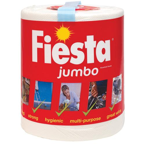 Fiesta White Jumbo 2 Ply Kitchen Roll