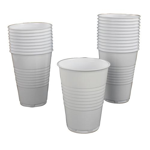 White 7oz Plastic Tall Hot Drinking Cups Pack of 100