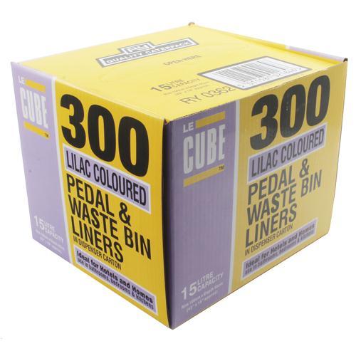Le Cube Pedal Bin Liner Dispenser Pk 300 0362
