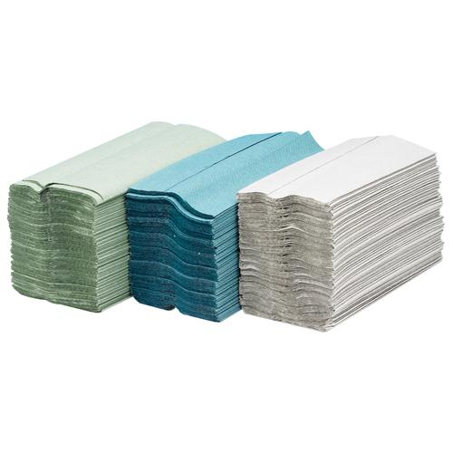 Maxima Green C-Fold Hand Towel 2 Ply White Pack of 24 x 100 Sheets KMAX5052