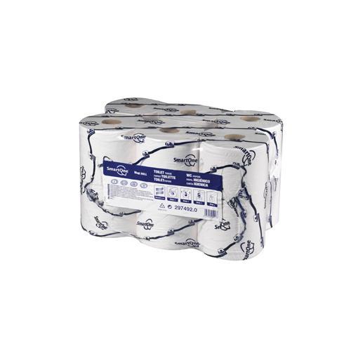 Tork White 2 Ply SmartOne Mini Toilet Rolls Pack of 12 REF 472193