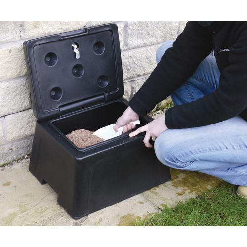 Mini Grit Bin with Scoop 25kg Salt 383589