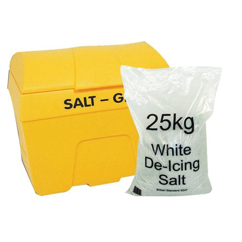 Salt/Grit Bin with 8 x 25kg Salt Bag 360201