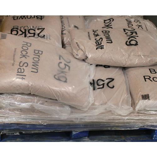 Winter Dry Brown Rock Salt 25kg Pk 10 383579
