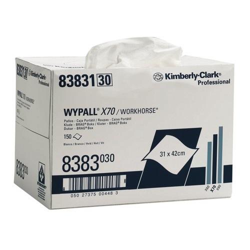 WYPALL* X70 NW BRAG BOX WHITE 1PLY 8383