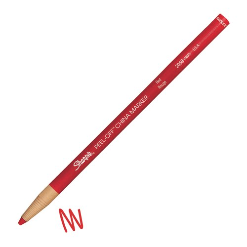Sharpie China Wax Marker Pencil Red Ref S0305081