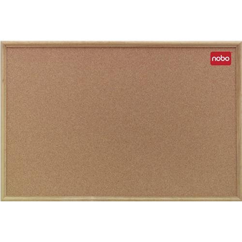 Nobo Cork Board 900x600mm Classic Oak 37639003