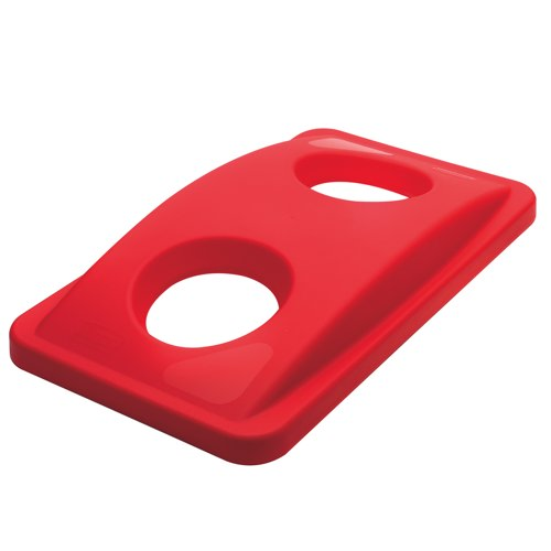 Rubbermaid Slim Jim Bottle Recycling Lid Red (Pack of 1) Ref 2692-88-RED