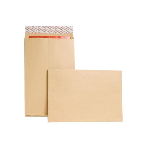 New Guardian Gusset Envelope 381x254x25mm 130gsm Manilla Peel and Seal Pk 100 M27466