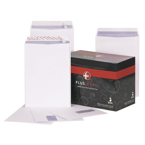 Plus Fabric Envelope Easy-Peel C4 White Pk 250 K26739