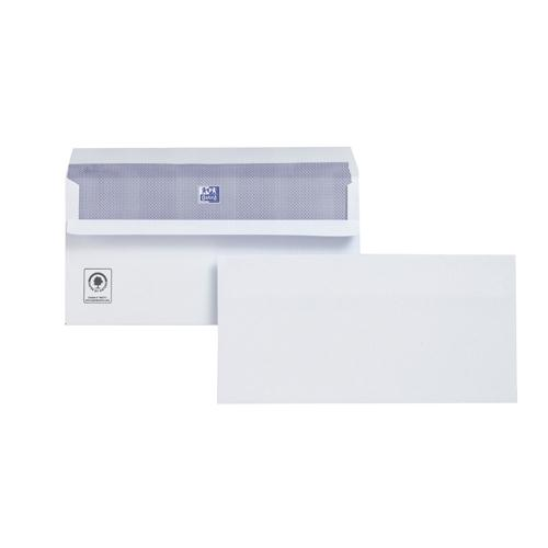 Plus Fabric Envelope DL Prestige 110gsm Wallet Press Seal Pk 250 M23270