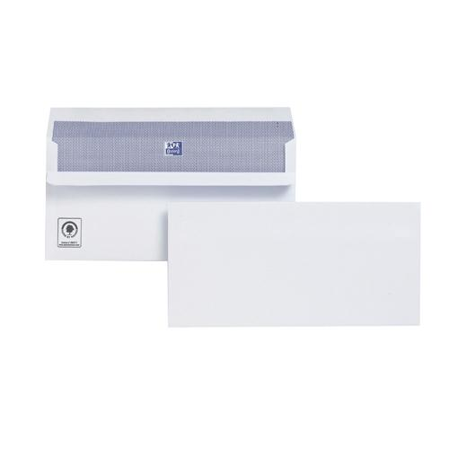 Plus Fabric Envelope DL 110gsm White Self-Seal Pk 500 H25470