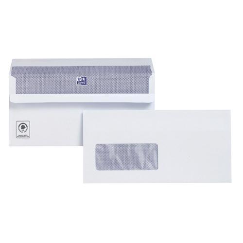 Plus Fabric Envelope DL Window White 110gsm Self-Seal Banker Pk 500 C22570