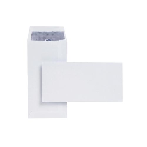 Plus Fabric Envelope DL 110gsm White Self-Seal Pocket Pk 500 E25770