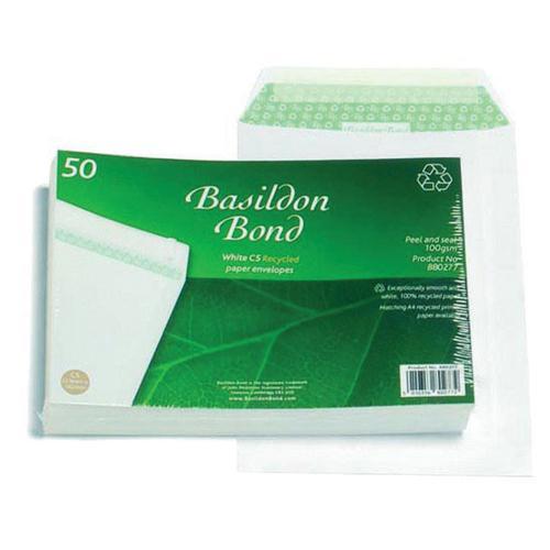 Basildon Bond Envelope C5 White Pocket 120gsm Pack 50