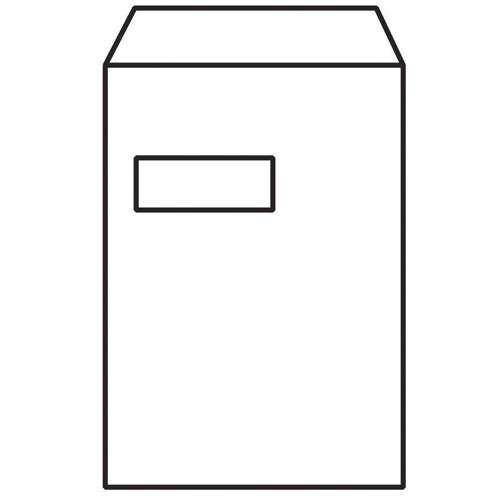 Evolve C4 Recycled Envelope Window White Self-Seal 100gsm Pk 250 RD7892