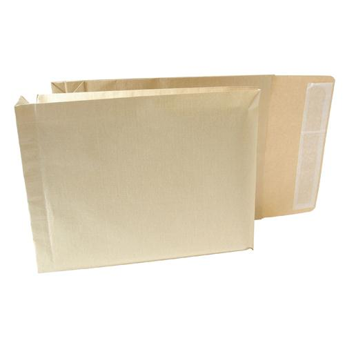 New Guardian Armour Gusset Envelope 330x260x50mm Manilla 130gsm Peel and Seal Pack 100 J28203