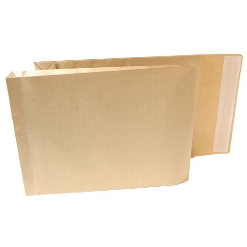 New Guardian Armour Gusset Envelope 381x279x50mm Manilla 130gsm Peel and Seal Pk 100 H28313
