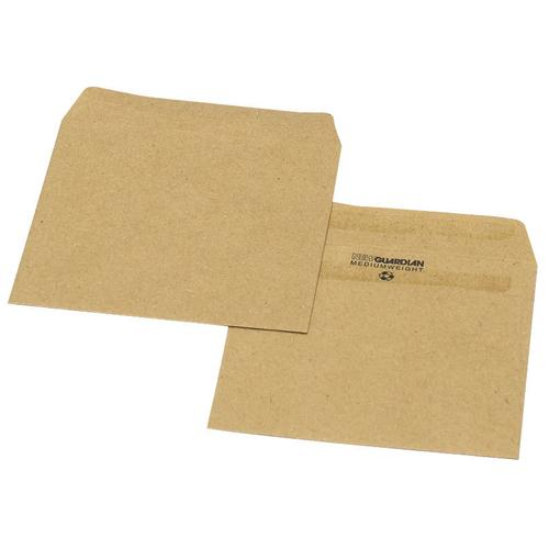 New Guardian Wage Envelope 108x102mm Plain 125gsm Manilla Self-Seal Pk 1000 L20219