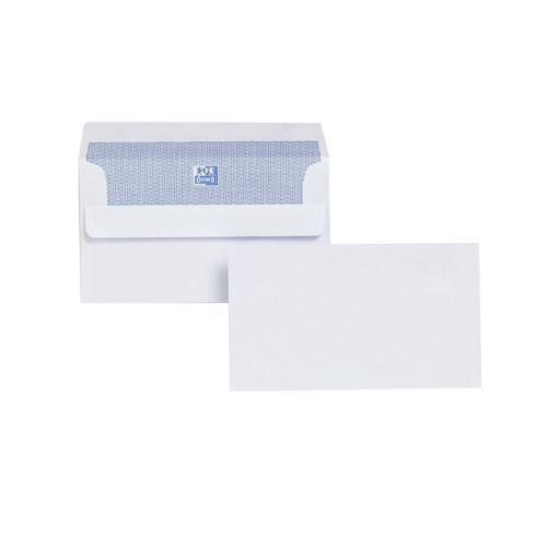 Plus Fabric Envelope 89x152mm/3.5x6 inch White Self-Seal Pk 500 F21870
