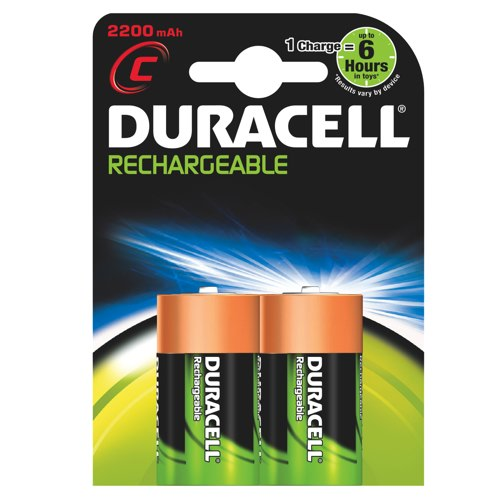 Duracell Recharge Ultra C Batteries Pack of 2 REF 75052458