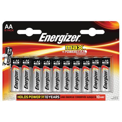 Energizer MAX E91 AA Batteries Pk 16 E300132000