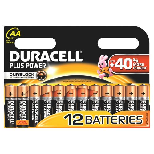 Duracell Plus AA Batteries Pack of 12