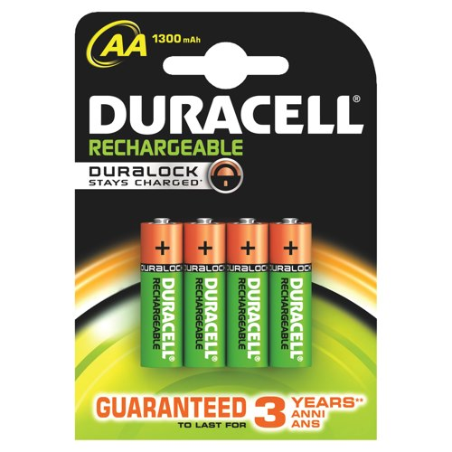 Duracell Recharge Plus AA Batteries Pack of 4 REF 81367177