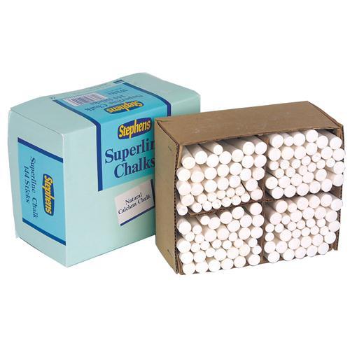 Stephens Chalk White Sticks Pk 144 RS522553