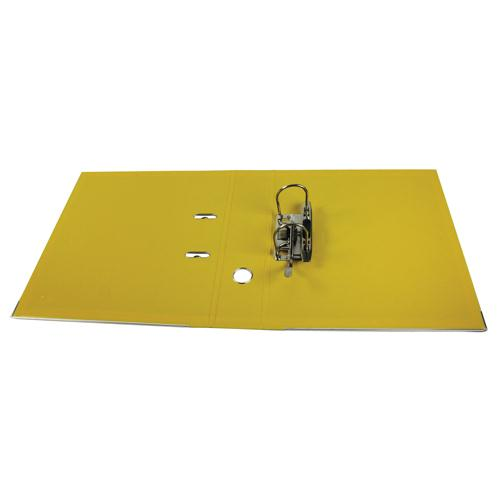 Esselte Lever Arch File PVC A4 75mm Yellow 48061