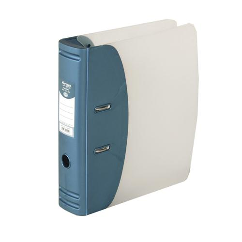 Hermes Lever Arch File Heavy Duty A4 60mm Capacity Metallic Blue 832007