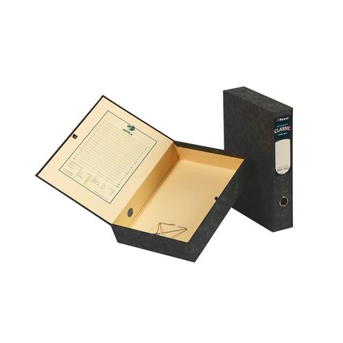 Acco Eastlight Classic Box File Lockspring Foolscap Black 30115EAST