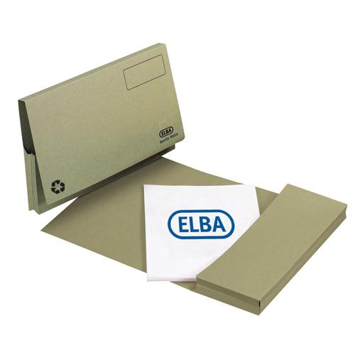 Elba Longflap Document Wallet Foolscap Green 100090254