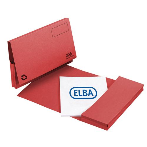 Elba Longflap Document Wallet 290gsm Red 100090257