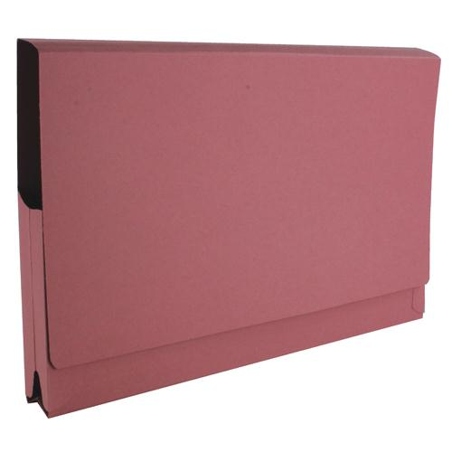 Guildhall Full Flap Pocket Wallet Foolscap Pink