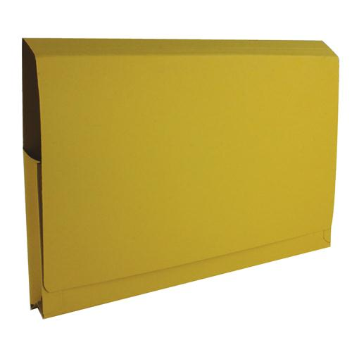 Guildhall Full Flap Pocket Wallet Foolscap Yellow