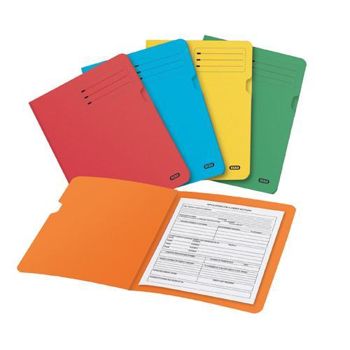 Elba Square Cut Folder Foolscap Assorted Pk 25 100090142