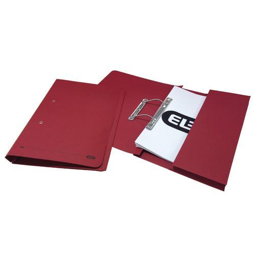 Elba Stratford Spring Pocket File Foolscap Bordeaux 100090149