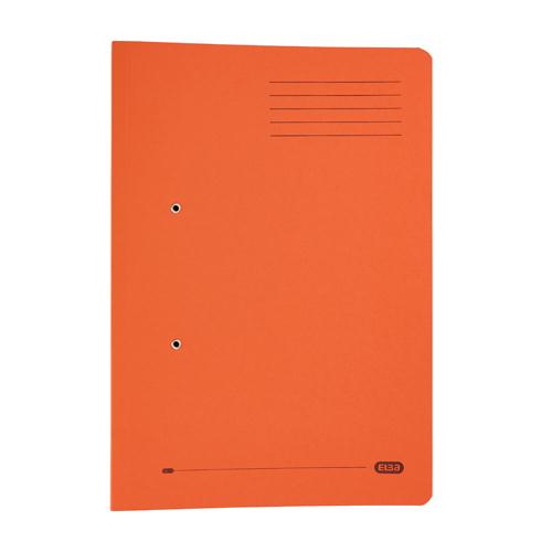 Elba Stratford Spring Pocket File Foolscap Orange 100090148