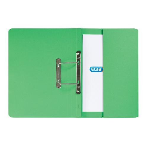 Elba Stratford Spring Pocket File Foolscap Green 100090147