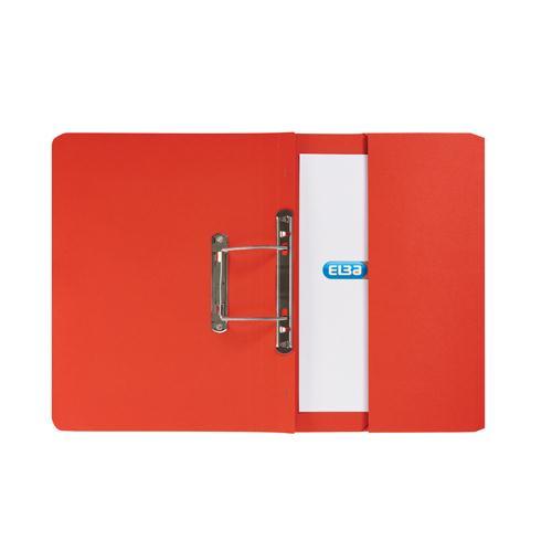 Elba Stratford Spring Pocket File 310gsm Red 100090278