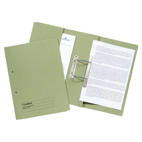 Guildhall Super Heavyweight Pocket Spiral File Green 211/6002
