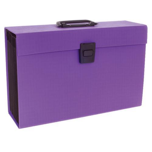 Rexel Joy Expanding Box File Purple RX23489